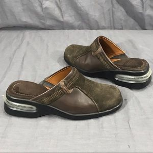 Cole Haan Suede Brown Slip On Leather Mules 5B